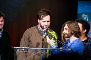 Wintersleep accepting award at NSMW
